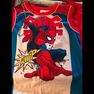 Spiderman Boys Sleeveless Pajamas pj set
